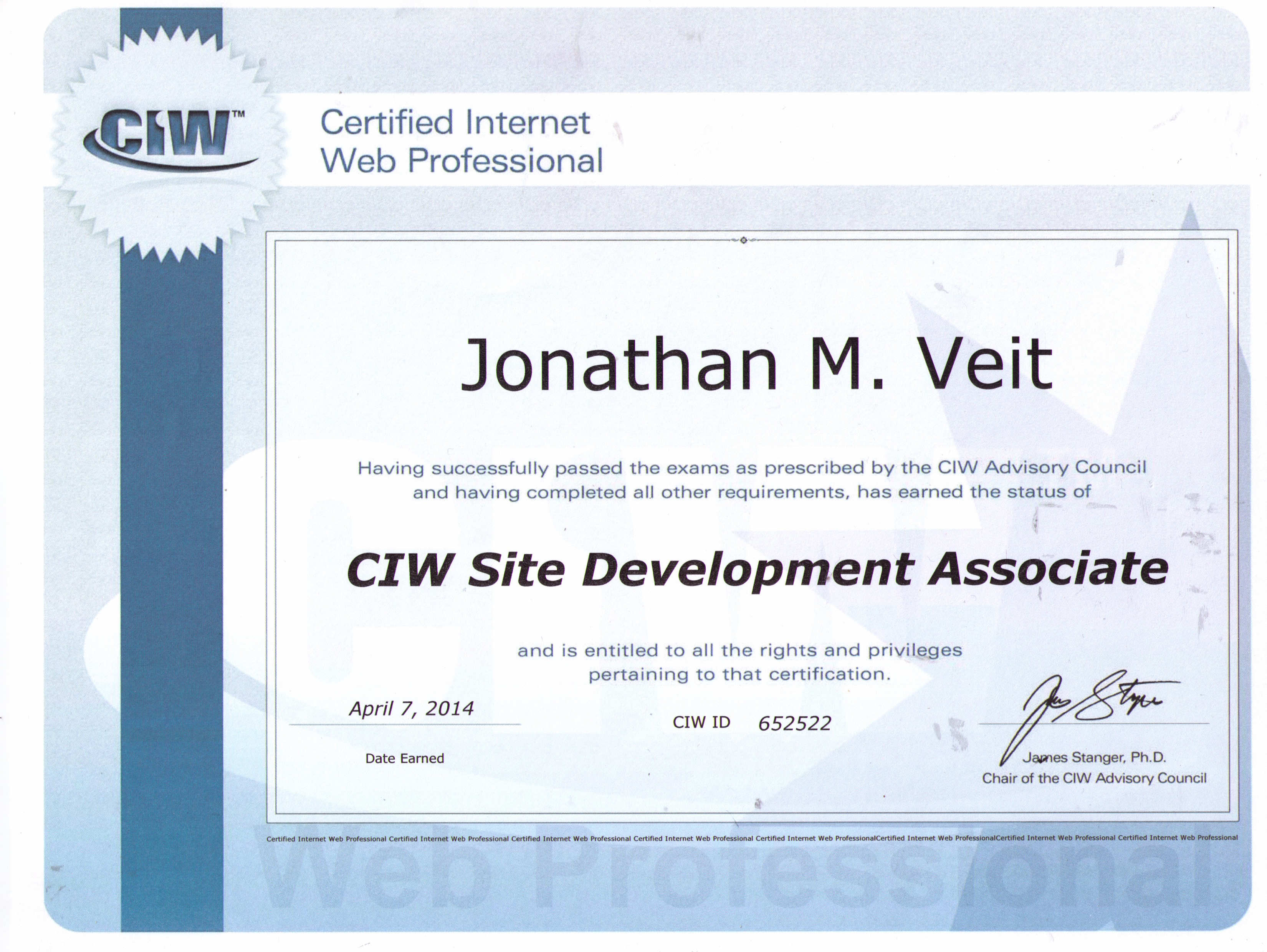 JonVeit com - Web design and database development services