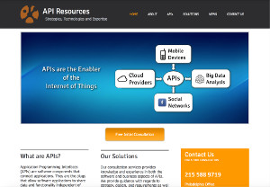 API Resources Screen Shot